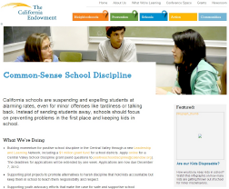 Common-Sense School Discipline Restorative Justice